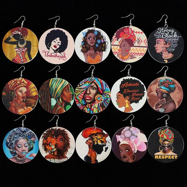 Women, Fashion, Dangle Earring, melaninpoppin