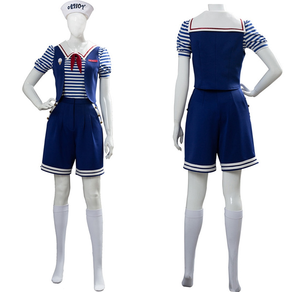 Stranger Things Season 3 Robin Scoops Ahoy Dress Cosplay Costume Women Uniform Outfit Halloween Costume Wish
