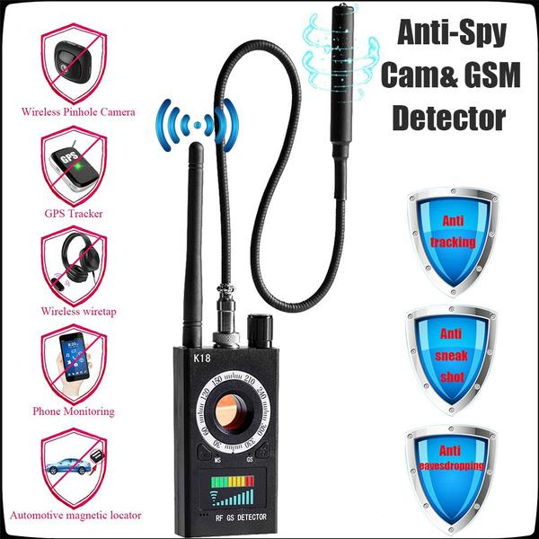 K18 RF Signal Detector Bug Anti-spy Detector Camera GSM Audio Bug Finder  GPS Scan