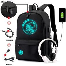 black backpack, Girl's School Bag, boysschoolbag, Waterproof