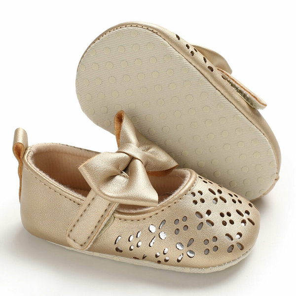 Baby Toddler Girl Crib Shoes Pram Soft Sole Prewalker Anti-slip Sneakers Infant