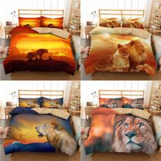 beddingkingsize, case, lionbeddingset, printed