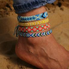 Rope, ankletchain, wovenbracelet, wovenanklet