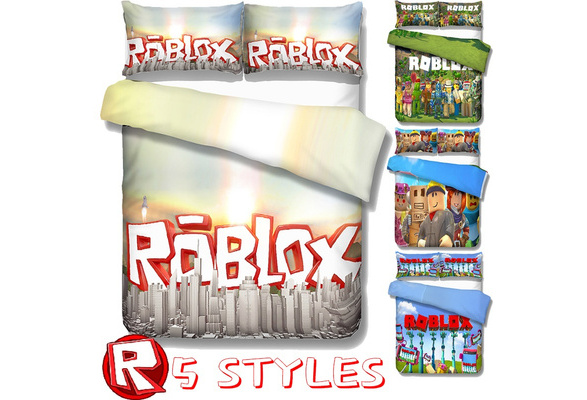 5 Style Cartoon Video Game Theme Roblox Bedding 3 Piece Set Adult