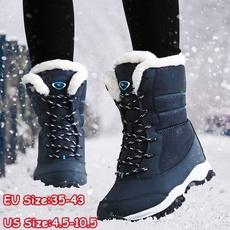 Plus Size, Winter, Waterproof, Boots