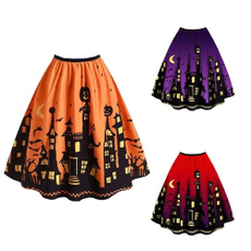 halloweenskirt, Bat, Plus Size, Fashion