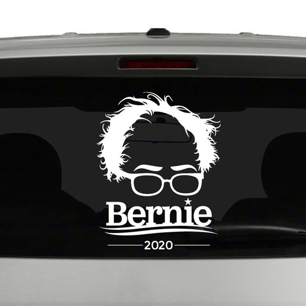 Bernie Sanders 2020 For President White Bumper Sticker Decal