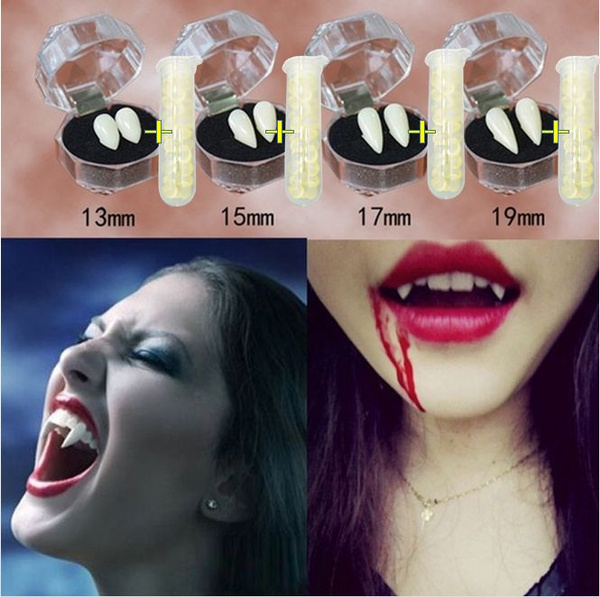 Latex Halloween Vampire Fangs Teeth Tooth Fancy Dress Party Costume Accessory