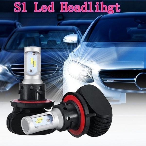 2PCS S1 H7 H1 H3 H4 9005 9006 H8 H11 Turbo LED Headlight Bulb Conversion  Kit 50w 6000k White