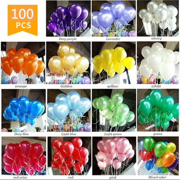 100× Colorful Latex Thickening Wedding Celebration Party Birthday Balloons