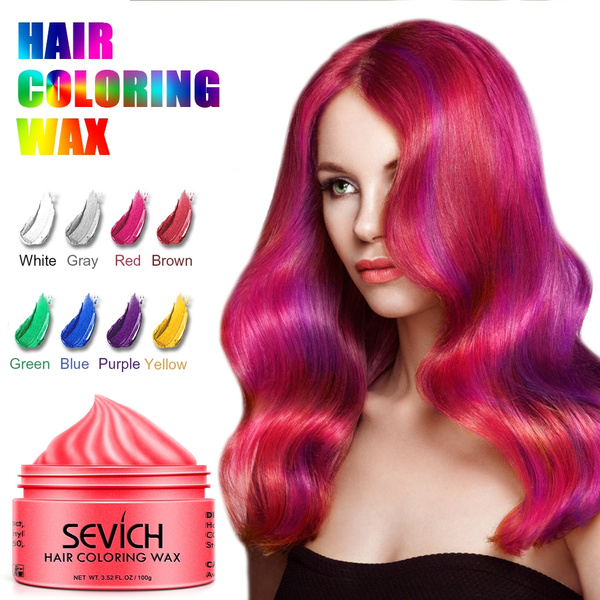 Disposable Hair Color Wax Men Styling DIY Mud Paste Dye Cream Hair Gel For  Hair Coloring Styling