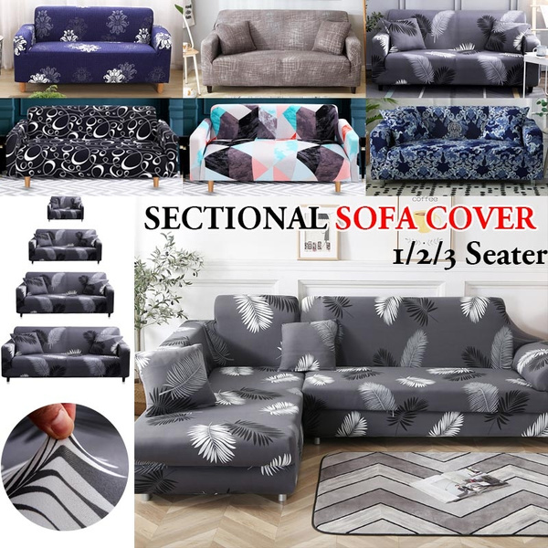 Wondrous 1 2 3 Seaters Sofabezug Feathers Leaf Tropical Plant Flower Sofa Cover Cotton Elastic Sofa Slipcovers Corner Sofa Towel Couch Cover Sofa Covers For Theyellowbook Wood Chair Design Ideas Theyellowbookinfo