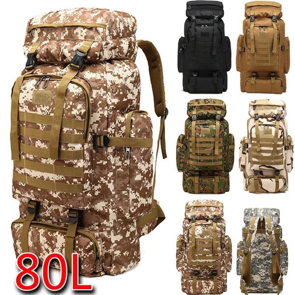 Waist Bag 80L Outdoor Military Tactical Rucksack Backpack Hikking Camping Bag