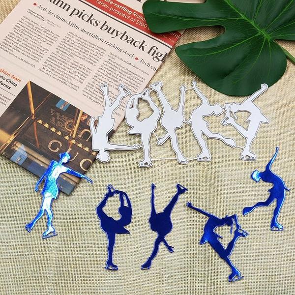 Yoga Girl Metal Cutting Dies Stencil DIY Scrapbooking Album Stamp Card