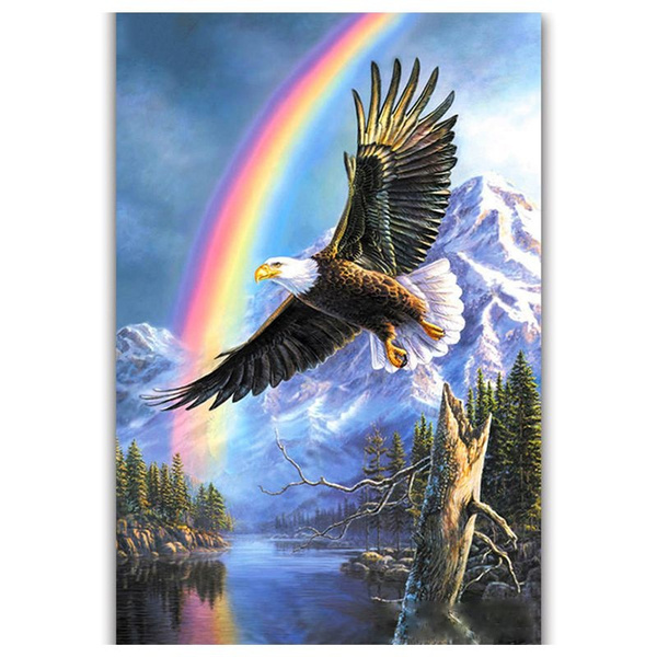 5D Full Drill Diamond Painting Eagle Wings Rhinestone Decors and Beauty