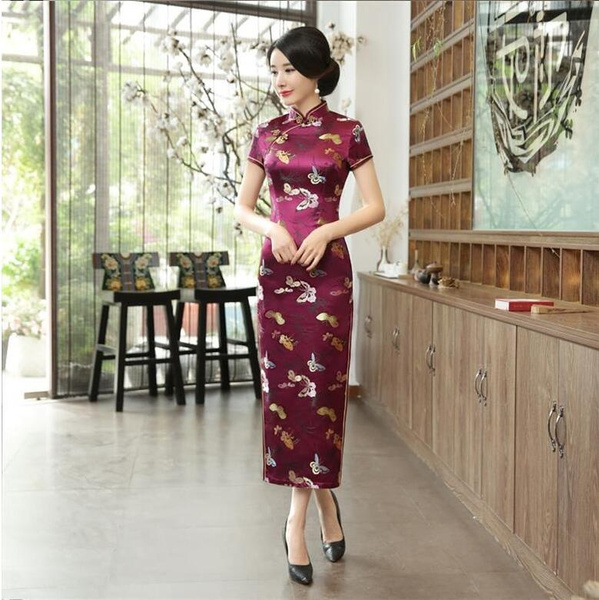 Qipao Cheongsam Dress Women Modern Chinese Dress Adult Traditional ...