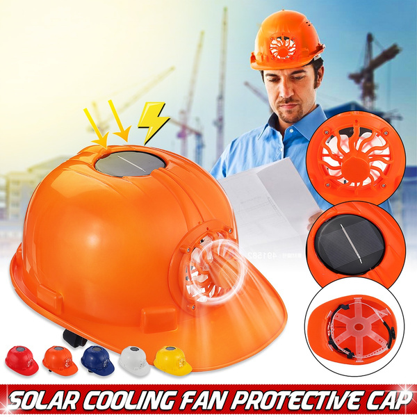 Outdoors Working Solar Power Safety Helmet Hard Hat Cooling Fan