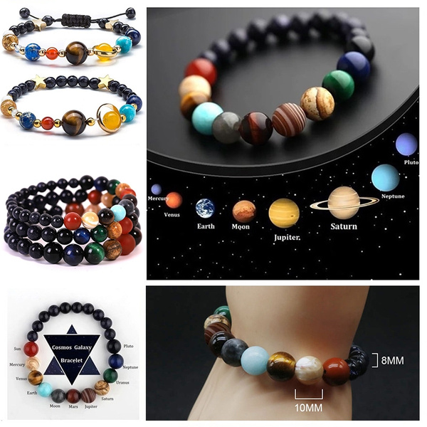 6 Styles Solar System Nine Planets Bead Bracelet Natural Stone Universe Yoga Chakra Bracelet For Women Men Jewelry by Wish