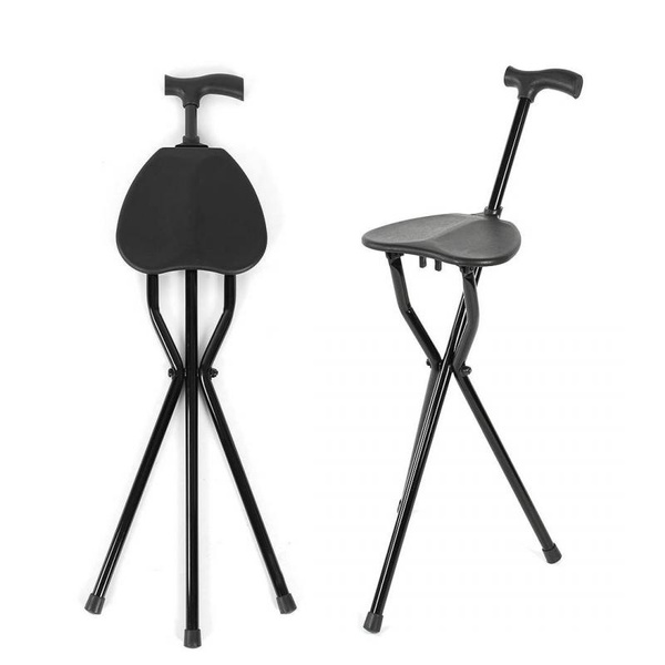 Miraculous Folding Cane Seat Walking Stick Stool Crutch Chair For Elderly Pabps2019 Chair Design Images Pabps2019Com