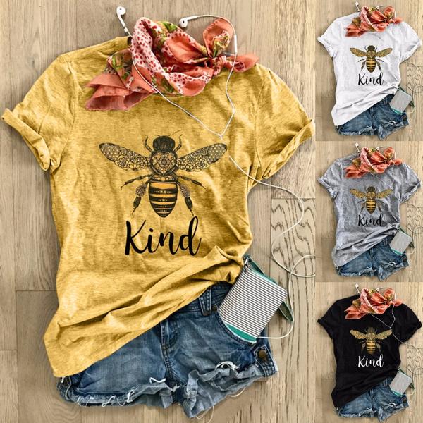 bumblebeesshirt, shorsleevetshir, Sleeve, summertee