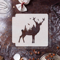 stencil, deerstencil, Deer, canvasampsurface