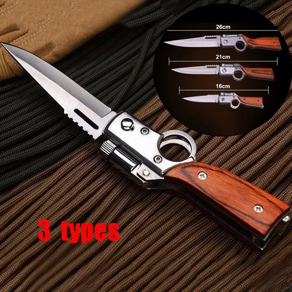 Outdoor Camping Hiking Best Multi Function Survival Hunting Knives Military Folding Knifes Survival Steel Ak47 Pocket Gifts 3 Types Wish