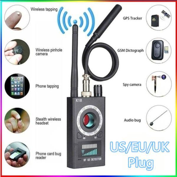 New RF Signal Detector Bug Anti-spy Detector Camera GSM Audio Bug Finder  GPS Scan Spy Detector Black