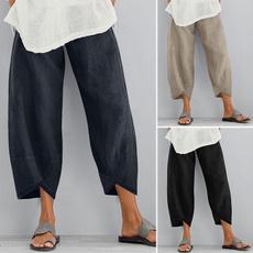 Women Pants, Summer, elastic waist, cottonpant