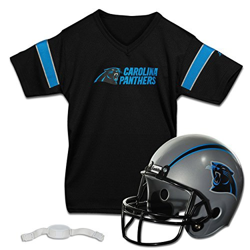 low priced f6399 bd0cd Refurbished Franklin Sports NFL Carolina Panthers Replica Youth Helmet and  Jersey Set