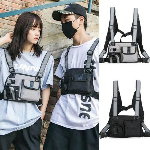 Girls Mens Chest Rig Waist Bag Functional Shoulder Bags Streetwear Handbag
