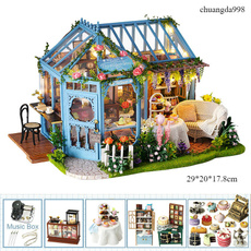 handmadewoodendollhouse, Toy, led, Garden