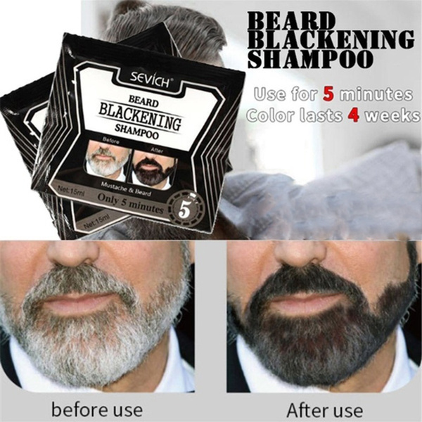 1pc Beard Dye Hot Sale Black Hair Coloring Fast Mustache Tint Cream Beard  Dye Blackening Shampoo
