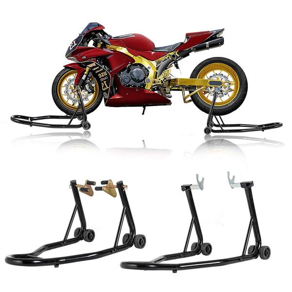 Venom Sport Bike Motorcycle Front Fork /& Rear Paddle Combo Wheel Lift Stands Paddock Stands Universal Motorcycle Combo Yamaha Fits Honda Kawasaki Suzuki Ducati BMW