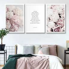 art print, pink, flowerposter, Flowers