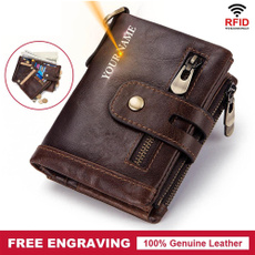engraving, leather wallet, Fashion, Wallet