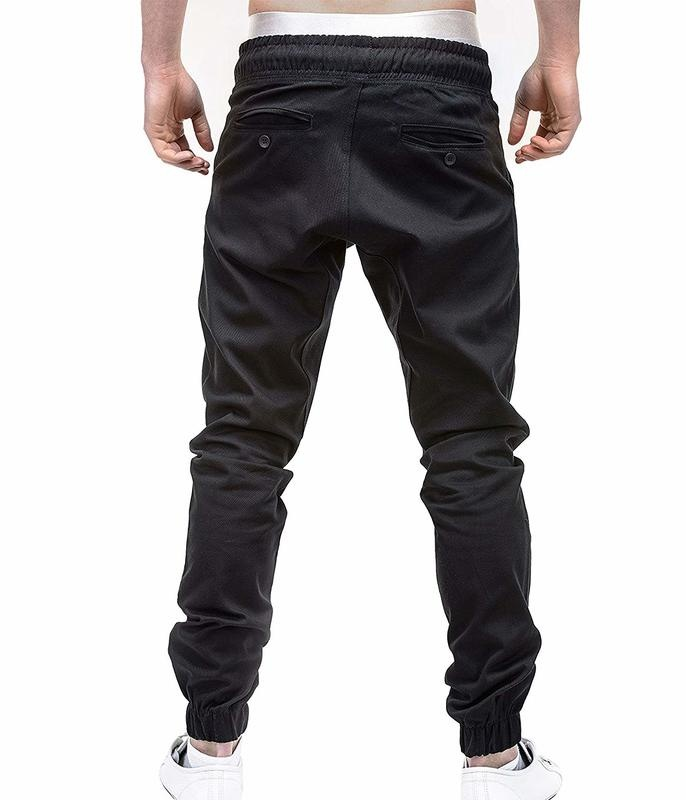 Men's Fashion Large Size Solid Color Casual Pants
