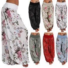 Summer, Plus Size, pants, Loose