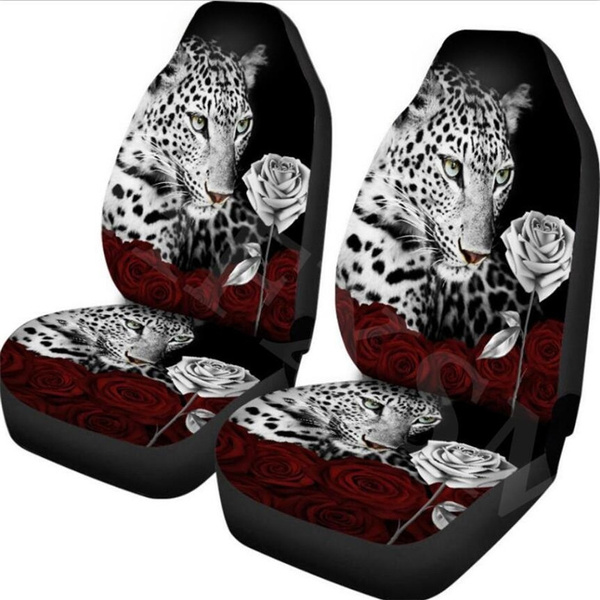 Fantastic 2Pcs Peacock Animal Print Front Car Seat Cover Universal Fit Seat Covers For Car Vehicle Seat Protector Auto Accessoires Machost Co Dining Chair Design Ideas Machostcouk