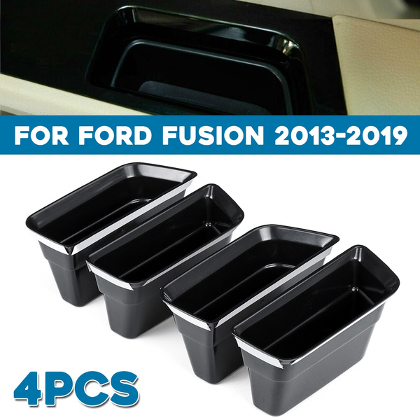 4pcs For Ford Fusion 2013-2019 Armrest Container Door Storage Box Handle