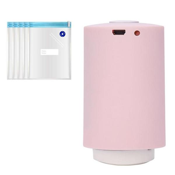 Mini Automatic Compression Vacuum Pump Portable Electric Air Pump+5 Vacuum Bags