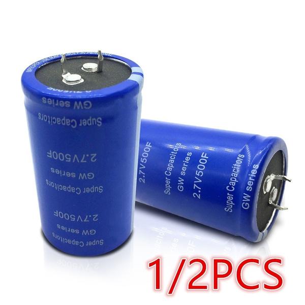 New Arrival ! 1/2Pcs Farad Capacitor 2 7V-500F Electrical Component Super  Capacitor