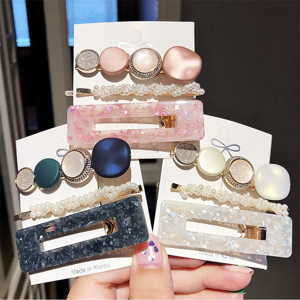 hairclipswomen, Barrettes, pearls, pearlhairclip
