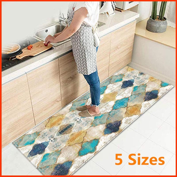 Moroccan Floor Mat,Kitchen Mats, Non-slip Mat & Kitchen Rug,Perfect for  Entry Way Kitchens and Bathroom,5 Sizes