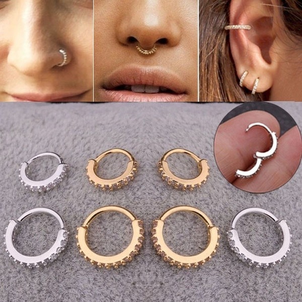 2019 New Mini Gold Hoop Cartilage Spiral Earrings Conch Puncture
