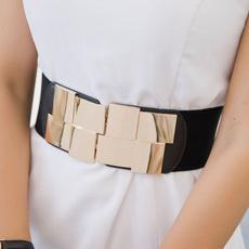 wide belt, Fashion, elastic belt, Elastic