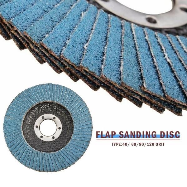 """10Pcs Professional Flap Sanding Discs 115mm 4.5/"""" 40 80  Grit Angle Grinder Discs"""