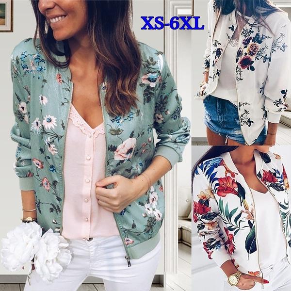jacketforwomen, Plus Size, floraljacket, Long Sleeve