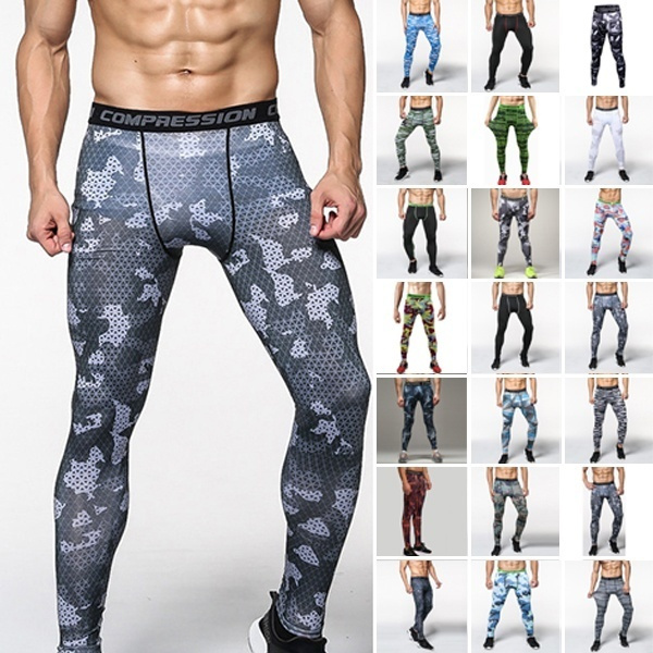 Mens Skinny Leggings Compression Jogging Running Gym Pants Sports Trainers Pants
