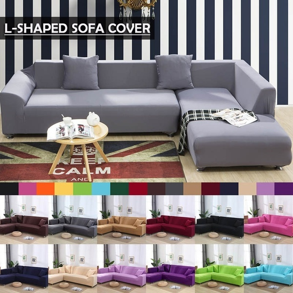 12 Colors Sofa Sets Plush Elasticity Package All Inclusive Cover Cloth 1 2 3 4 Seater L Shape Recliner Protector Set