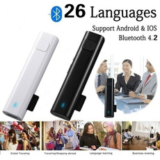 intelligenttranslation, Earphone, bluetoothtransmitter, wirelessinterpreter